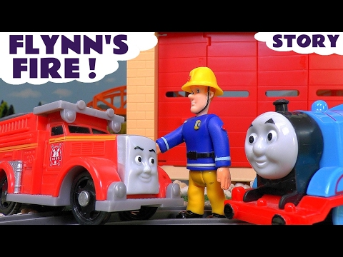 Thomas and Friends with Fireman Sam - Flynn's Fire Toy Trains Episode Fun Family Story ToyTrains4u