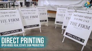 Direct Printing: Open House Real Estate sign production for The Firm realty