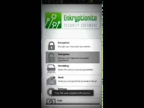 Video of Enkryptionite