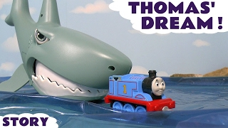 Video Thomas & Friends Thomas' Dream Take N Play Toy Trains Adventure with Shark and Piranha TT4U MP3, 3GP, MP4, WEBM, AVI, FLV Juli 2017