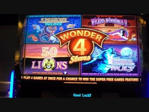 NEW WONDER 4 — All Four Games — Wicked Winnings 2, Timber Wolf, 50 Lions, and 5 Dragons