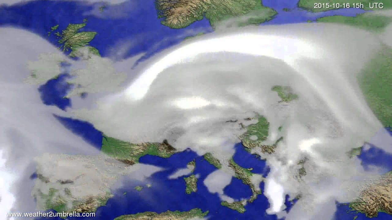 Cloud forecast Europe 2015-10-14