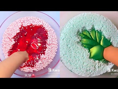 Fouffle And Iceberg Slime - Satisfying Slime ASMR Video Compilation
