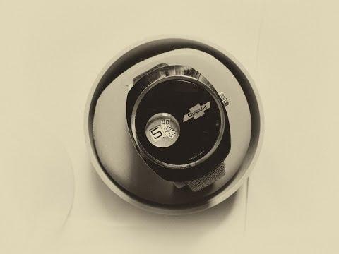 Дисковые часы Chevrolet швейцарской фабрики Lucerne 1970-80г. Круче чем машина