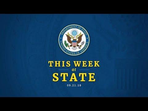 This Week at State: September 21, 2018
