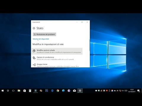 Disabilitare / abilitare la scheda di rete Ethernet con Windows 10