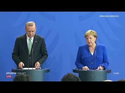 Pressekonferenz mit Recep Tayyip Erdogan und Angela Mer ...