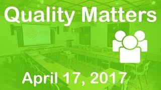 Professional Development - Quality Matters