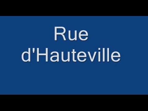 Rue d'Hauteville Paris