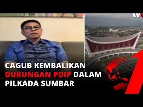 Respon Mulyadi 'Cagub Sumbar' Terkait Berita Pengembalian Surat Dukungan PDIP   tvOne