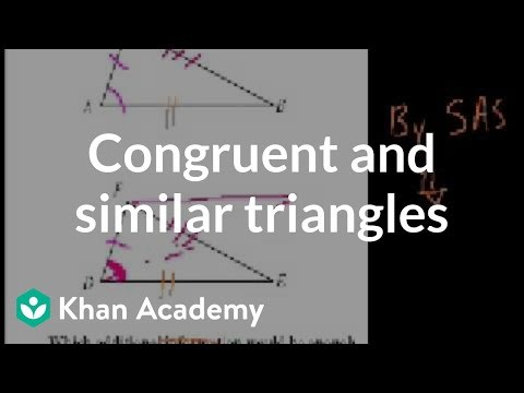 CA Geometry: More on congruent and similar triangles (video ...