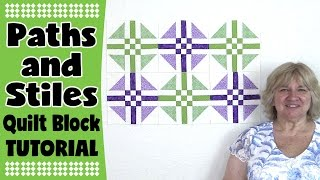 Paths and Stiles Quilt Block Tutorial: In this tutorial, you will learn how to make the Paths n Stiles Quilt Block. This is a quick one to put together.---FULL WRITTEN INSTRUCTIONS---http://www.alandacraft.com/quilt-block-paths-and-stiles-quilt-block-tutorial/---WATCH MORE QUILT BLOCK TUTORIALS HERE---https://www.youtube.com/playlist?list=PLMxvvtt3Z3CKZx04rEe8Vod1SP1EX767l---FOLLOW US ON---Website: http://www.alandacraft.comFacebook: http://www.facebook.com/alandacraftPinterest: http://www.pinterest.com/alandacraft/Instagram: http://instagram.com/alandacraftTwitter: http://twitter.com/AlandaCraftTumblr: http://www.tumblr.com/blog/alandacraft