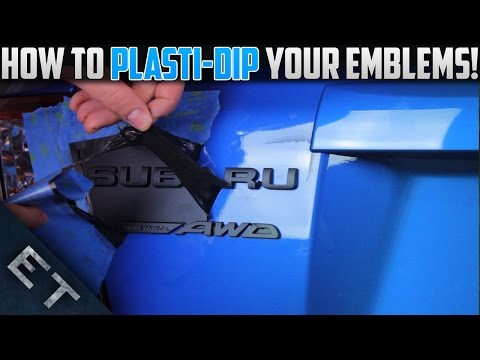 How To Plasti Dip Emblems/Badges on Your Car | Step By Step Guide