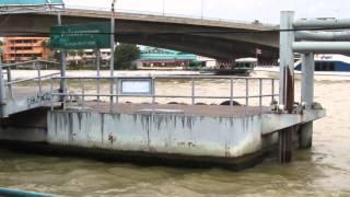 Strong Water Tides Bangkok Chao Phraya River
