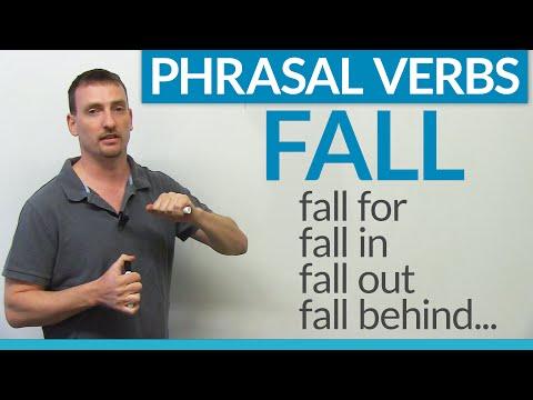 Phrasal Verbs - FALL: fall for, fall in, fall behind, fall through...