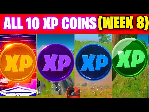 All XP COINS LOCATIONS IN FORTNITE SEASON 4 Chapter 2 (WEEK 8)
