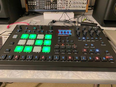 NEW Elektron Analog Rytm Mk2 Black unboxing and factory patterns   NO TALKING