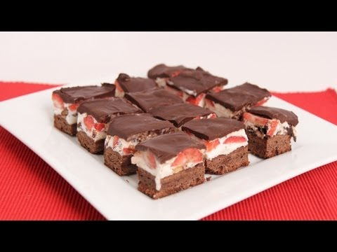 Brownie Ice Cream Bars Recipe - Laura Vitale - Laura in the Kitchen Episode 628