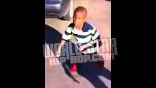 Real Life Bebe Kid Lil Bad Azz 4yr Old Cussin At Camera Man!