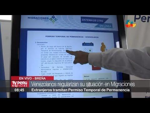 Migraciones activa citas en línea para tramitar Permiso Temporal de Permanencia para venezolanos