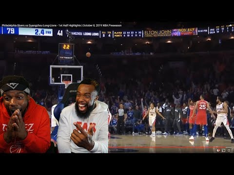Ben Simmons Makes his 1st NBA 3 Pointer Me and Cash's Reaction