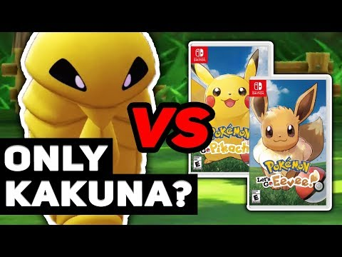 Can A Kakuna That Only Knows Harden Beat Pokémon Let's Go Pikachu / Eevee? (No Candy)