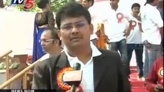 positive walk positive homeopathy health walk at necklace road tv5 news