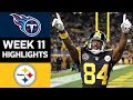 Titans vs Steelers | NFL Week 11 Game Highlights