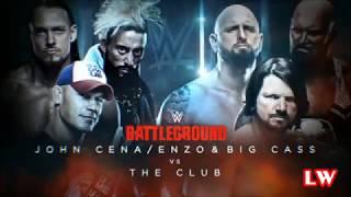 John Cena , Enzo and Big Cass vs The Club Highlights - Battleground 2016
