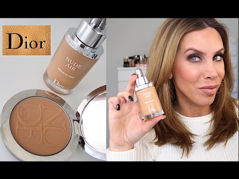 Dior Nude Air Serum Foundation and Nude Air Powder Review / Demo
