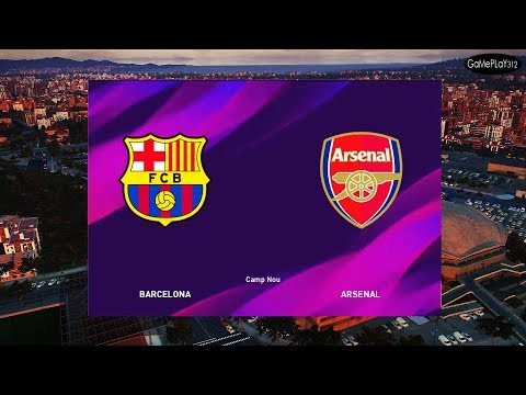BARCELONA VS ARSENAL - Full Match & Amazing Goals - Gameplay PC