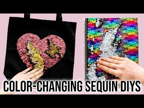 4 DIYs Using Color-Changing Sequin Fabric