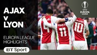 Ajax 4-1 Lyon   Europa League Highlights