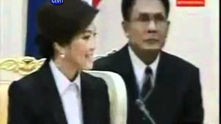 Thai Cambodia Prime Minister Hun Sen And Yingluck  Visit Phnom Penh Cambodia Khmer  News Music Song