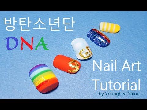 [K-POP]방탄소년단 'DNA'네일아트 No.1  BTS 'DNA' Nail Art Tutorial No.1 ㅣ Younghee Salon