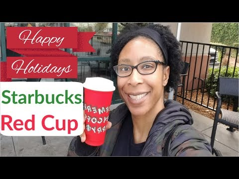 Starbucks New Holiday Red Cup  & Toasted white Mocha Taste Test 2019