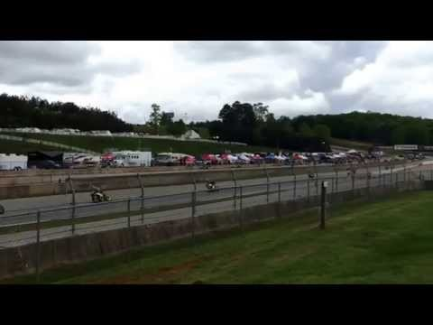 MotoAmerica Superstock 600 Race Start at Road Atlanta