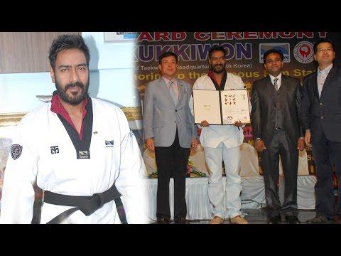 Wow! Ajay Devgn Honored Black Belt By The Taekwond
