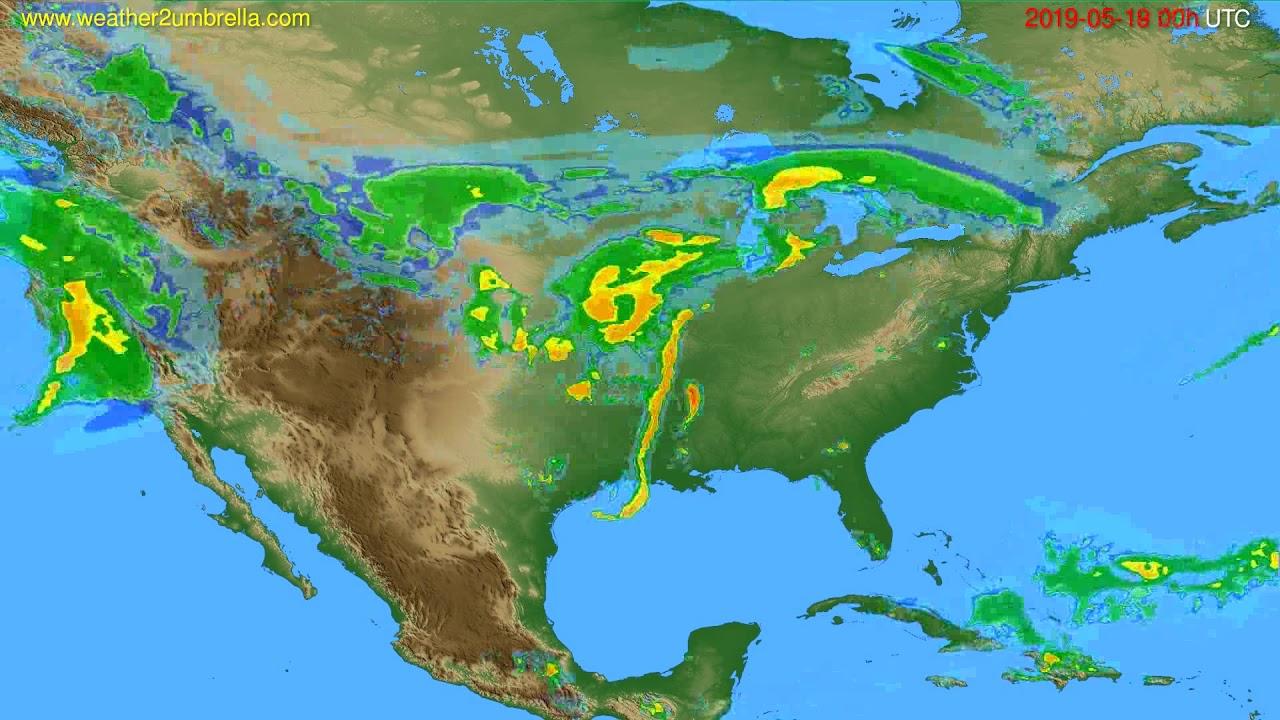 Radar forecast USA & Canada // modelrun: 12h UTC 2019-05-18