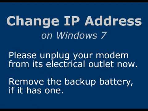 Change IP Address on Windows 7
