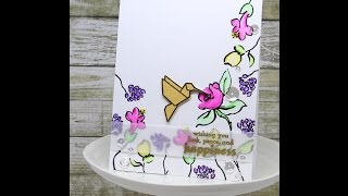 Altenew Spring Florals Watercolored Card