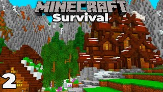 Storage Room and Feast Hall : Minecraft 1.15 Survival Let's Play #2