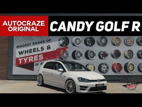 CANDY GOLF R // Volkswagen Golf R Wheels, Tyres, and Suspension   Koya SF09 Wheels   AutoCraze 2017