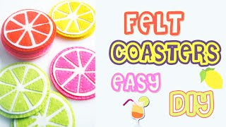 "Heyyy!❤ How are you guys? In this video you'll see how to make cute and cheerful felt coasters, that brilliant idea for summer! I hope you'll enjoy! ❤ LETS GET THIS TO 1,000 LIKES?! Can we do it??Let's talk on TWITTER - https://twitter.com/DianataRoseDon't miss new videos, check out DIY Projects PLAYLIST - https://goo.gl/ByMnh1Follow me:✴TWITTER - https://twitter.com/DianataRose✳INSTAGRAM - http://instagram.com/dianatarose✴FACEBOOK - https://www.facebook.com/dianatarose✳My Life Channel - https://goo.gl/bTjqmB✴BLOG - http://dianatarose.blogspot.com/✳PINTEREST - https://www.pinterest.com/DianaTaRose/✴GOOGLE PLUS - https://goo.gl/NYKCeN======================================Hey, I'm Diana, from Georgia Country. I make videos about DIY projects, MakeUp Transformation, VLogs and basically anything that I love. I hope, that my channel inspiring you and give you some cool ideas, as like you inspiring me for making more and more beautiful videos! ❤======================================*** Your ""Thumbs Up"" and Subscription inspire me to make other beautiful videos! Thank you all for your support!If you're currently reading this leave a comment below saying""lemonorangejuice"" ""))"