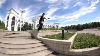 Free running parkour at ChaoYang Park 朝阳公园, BeiJing 北京