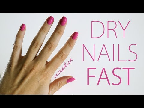 Video Of The Week: 5 Ways To Dry Your Nails And Makeup Tips