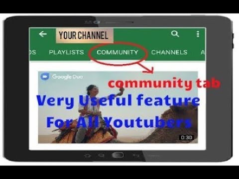 How to activate community tab feature in hindi || how to post your status , views , photos, ideas||