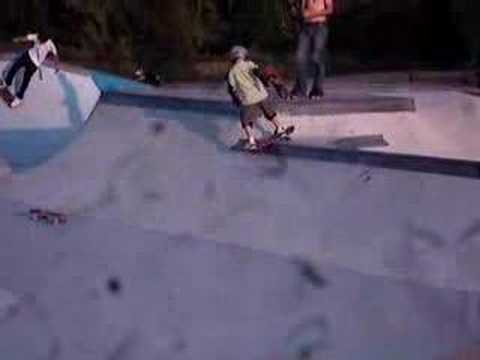 7 year old Nic in Major Taylor Skatepark
