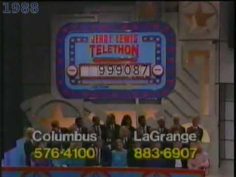 Jerry, Ed, and MDA: The excitement of the first million (Labor Day Telethon)