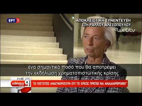 Συνέντευξη της Κριστίν Λαγκάρντ στην ΕΡΤ